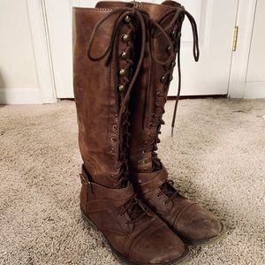 Tall Lace-Up Boots